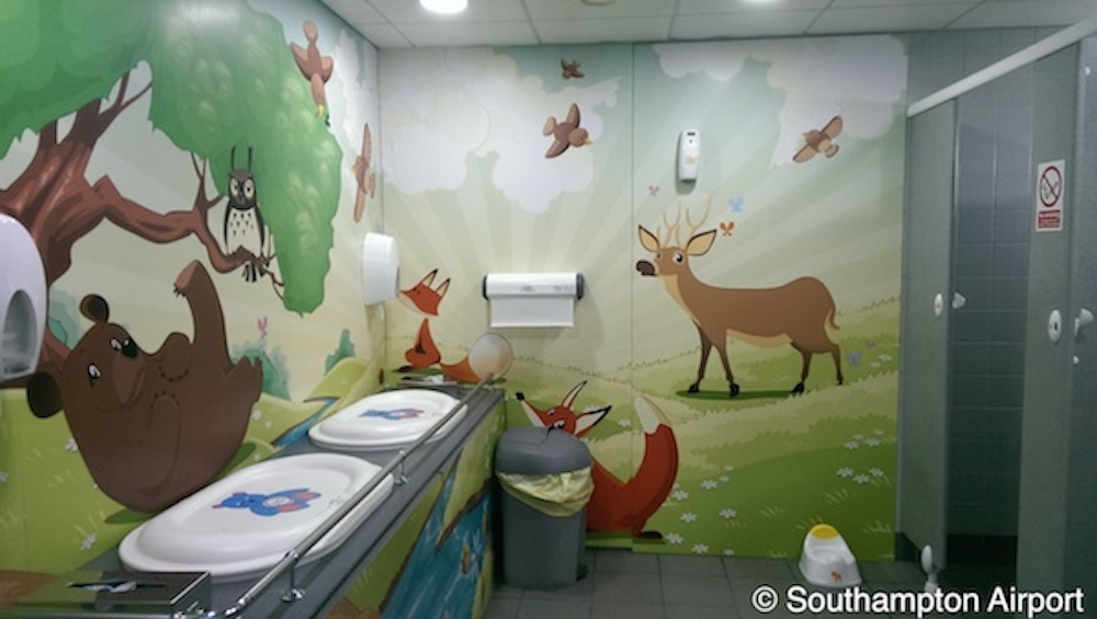 Baby changing facility in Southampton Airport